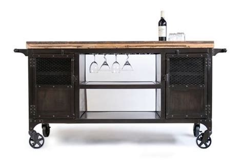 Custom Made Industrial Home Bar Reclaimed Wood, Coffee