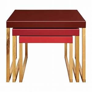 Table D Appoint Gigogne : kilo tables basses bordeaux cire habitat ~ Teatrodelosmanantiales.com Idées de Décoration