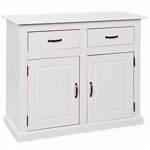 Bahut 2 Portes : bahut bas 2 portes 2 tiroirs chlo blanc ~ Teatrodelosmanantiales.com Idées de Décoration