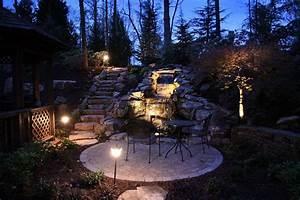 outdoor lighting patio waterfall stairs landscaping atlanta With outdoor landscape lighting marietta ga