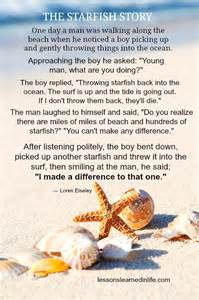 You Make a Difference Starfish Story