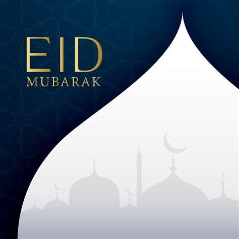 eid festival greeting card design   vector