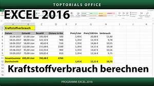 Excel Formeln Automatisch Berechnen : kraftstoffverbrauch benzinverbrauch berechnen download microsoft excel youtube ~ Themetempest.com Abrechnung
