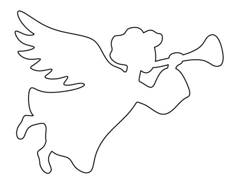 christmas angel pattern use the printable outline for crafts creating stencils scrapbooking