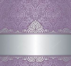 Silver & violet luxury vintage invitation background