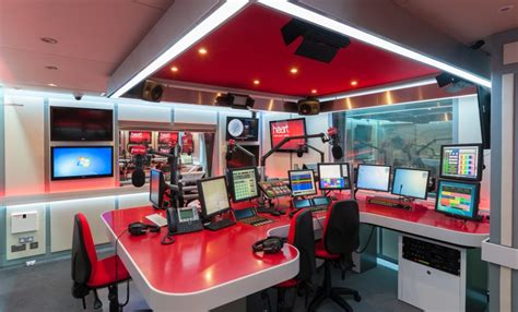 desking at radio station studio in corian 174 by knotty ash woodworking ltd