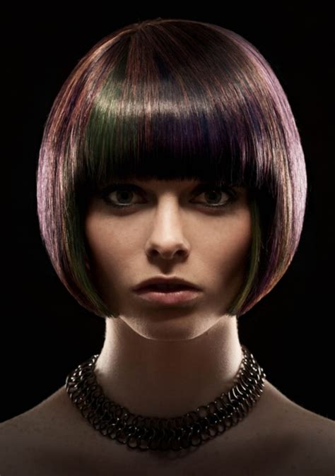smooth quintessential bob cut   curved silhouette