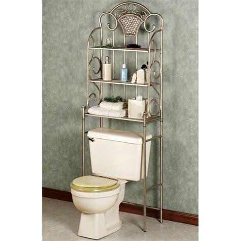 bathroom space saver  toilet nickel  sleek metal