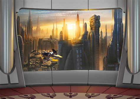 couverture pour canape poster wars planète coruscant panoramique komar