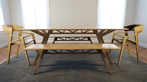 bench style table and chairs modern varnished white oak wood dinng bench and chairs of