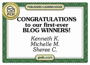 Publishers Clearing House Winners of Blog Contest Revealed ...