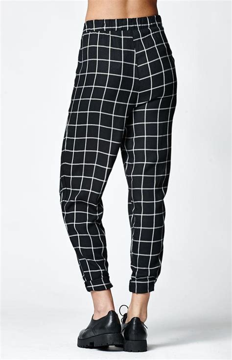 nollie windowpane checkered trousers  pacsun epic