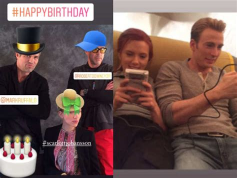 Scarlett Johansson-Mark Ruffalo's birthday: Robert Downey ...