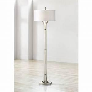 tristan modern brushed nickel floor lamp 9h891 lamps plus With tristan floor lamp stand