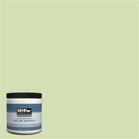 behr premium plus ultra 8 oz 420c 3 celery bunch satin enamel interior exterior paint and