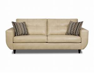 Beige jamestown bonded leather sofa for Sectional sofas from sears