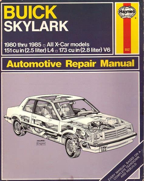 auto repair manual online 1986 buick skylark navigation system buick skylark x cars 1980 to 1985 haynes automotive repair manual shop manual for these models
