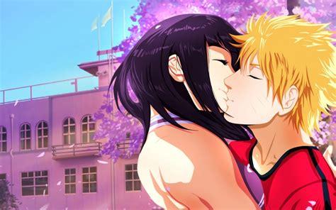 Wallpaper Naruto X Hinata Romance Kissing Wallpapermaiden