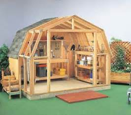 10x14 Shed Plans With Loft by Gambrel Roof Sheds Plans How To Build Gambrel Roof Sheds