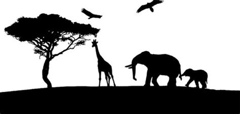 elephant silhouette clipart transparant background