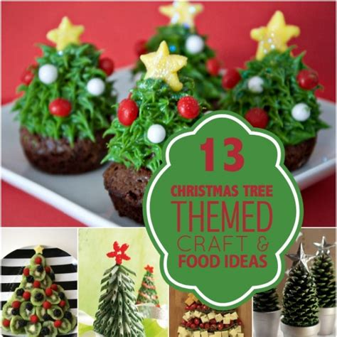 13 christmas tree themed crafts and food spaceships and