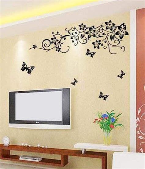 wow interiors  decors tv background floral wall sticker