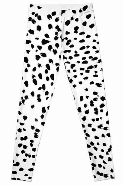 Spots Leggings Dalmatian Dots Animal Nadia Bw
