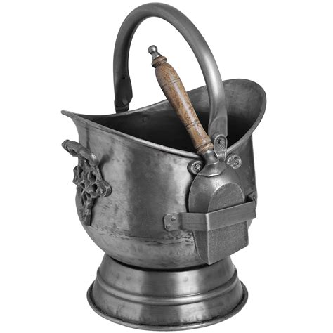 traditional homes and interiors antique pewter coal with shovel from baytree