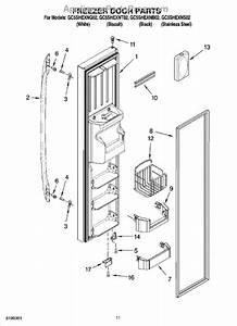 Parts For Whirlpool Gc5shexns02  Freezer Door Parts