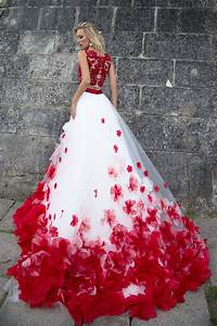 robe de mariee princesse rouge et blanche mariage With robe blanche et rouge