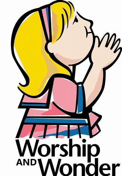 God Worship Clipart Clip Children Wonder Child
