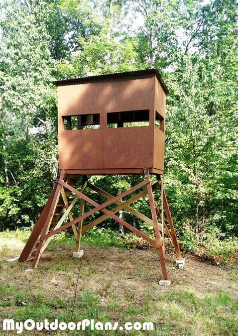 diy deer stand plans deer stand plans deer box