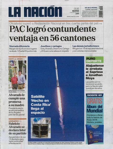 Un centenar de noticias: el primer satélite tico es ...