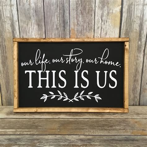 The chicken wire background adds the perfect farmhouse. This Is Us. Our Life. Our Story. Our Home, Wood Sign, This Is Us, Primitive Family Sign, This Is ...