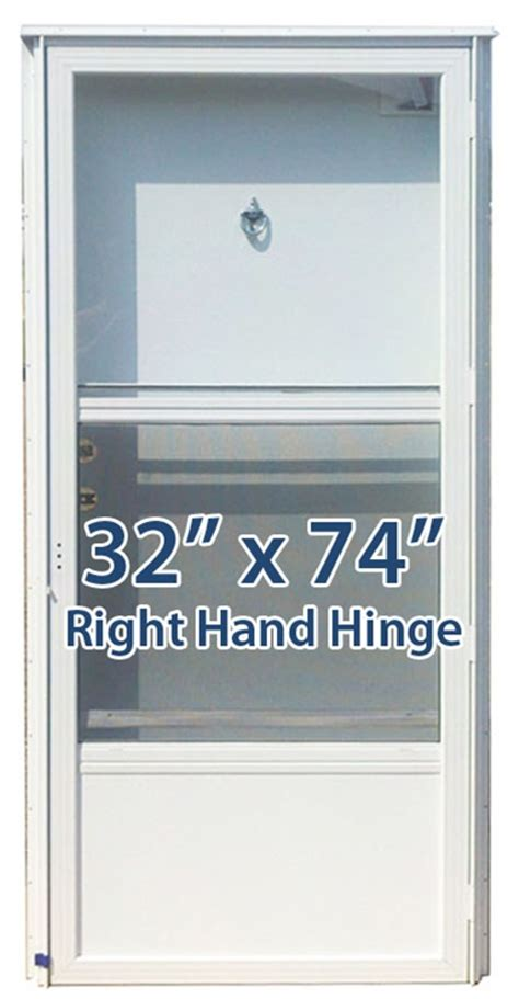 32x74 aluminum solid door with peephole rh for mobile home