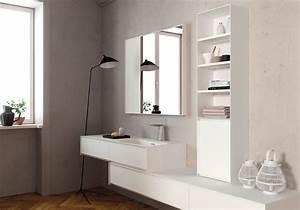 image salle de bain porte grave graphik meuble sous With carrelage adhesif salle de bain avec neon led puissant