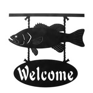 Metal Welcome Signs Fish