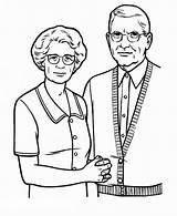 Parents Coloring Grandparent Grandparents Pages Gran Drawing Grand Printable Netart Print sketch template