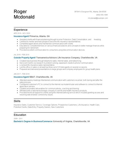 Check out our insurance resume samples to see which skills get used most insurance covers a few different types of jobs, such as broker, agent, agency owner, sales specialist, claims assistant, analyst and more. Insurance Agent Resume Examples and Tips - Zippia