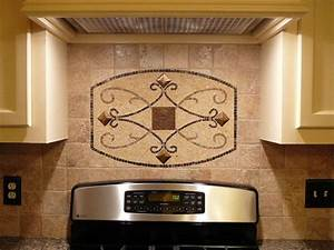 Kitchen backsplash metal medallions rapflava for Kitchen cabinets lowes with ceiling medallions as wall art