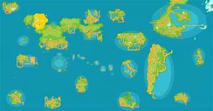 pokemon regions world map images