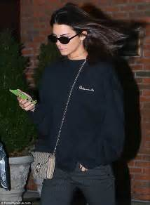 jenner phone kendall jenner is she complicit or not in pepsi ad fiasco kendall jenner checks phone as she heads out in baggy
