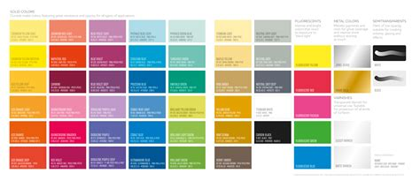 Montana Spray Paint Colors Chart
