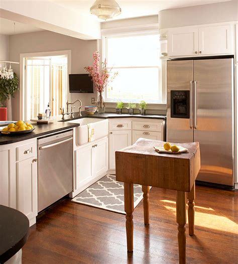 small space kitchen island ideas bhgcom
