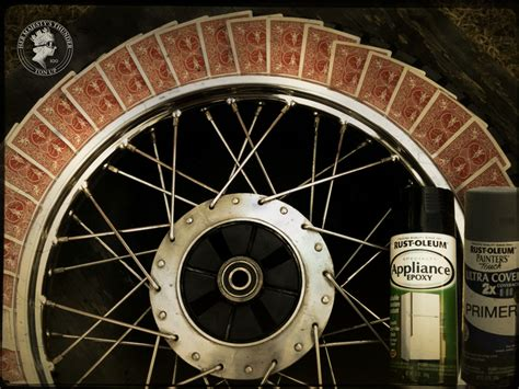 rims motorcycle painting diy cheap chrome rim masking mask tape tire side sand wet takes much primer step