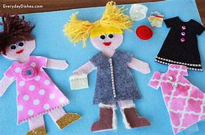 how to make felt dress up dolls With felt dress up doll template