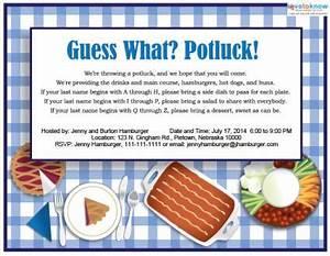 fice Potluck Invitation