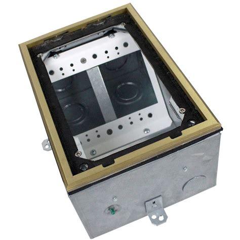 fsr fl 200 4 17770 dual gang concrete floor box 4 quot deep