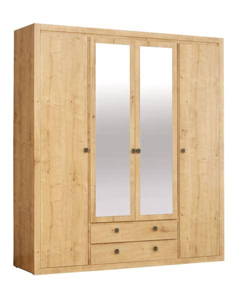 armoire de chambre à coucher armoire 4 portes 2 tiroirs indigo chambre a coucher chene