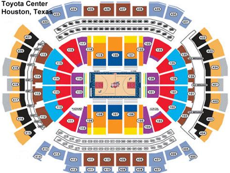 Rockets Tickets Toyota Center toyota center tickets and seating chart frontrow